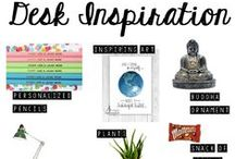 + Desk Inspiration / Chic, stylish, inspiring desk spaces as well as ideas for how to decorate your own desk.