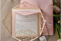 Invitation design / Design d'invitations de mariage