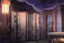 Illust. Chinese Setting / Illustrations of oriental settings | Visualization