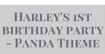 Harley's 1st birthday party - Panda Theme / When Harley turned 1, we made her a panda themed party. Here are the plans and how it turned out #pandaparty #birthdayparty #partyplan