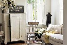 Farmhouse Decor / Burlap, neutral colors, vintage, shabby / by Shanette Dudley