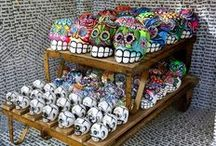 Iconography / Relics of the past and Religious iconography items. Day of the Dead, masks, skulls and more.