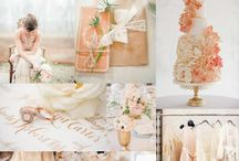 Boutique Bridal Coral Wedding / Coral wedding inspiration and ideas on how to use coral in your wedding theme. Coral bridal bouquets, coral bridesmaids dresses, coral cakes and coral wedding favours and coral flowers and decor ideas.