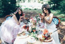 Boutique Bridal Alice in Wonderland Theme / Alice in Wonderland wedding theme ideas and inspiration.
