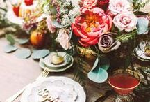 Boutique Bridal Picnic Wedding / Picnic style outdoor wedding - casual chic summer wedding.