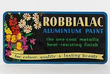 Robbialac Paints Advertising Ephemera / Old advertising boards dating back as far as 1900's.