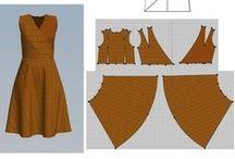 střihy sukně a šaty /pattern skirts, dresses