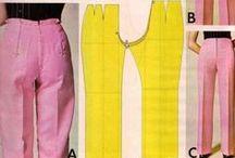 střihy kalhoty, spodky apod.../ Patterns pants, etc ...