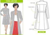střihy kabáty, saka a jiné svrchníky/patterns coats,  jacket , atc