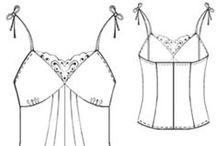 střihy spodní prádlo /Patterns underwear / podprsenky, kalhotky, korzety, košilky atd....