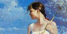 Vladimir Volegov / Pintor impresionis-realista contemporaneo ruso.