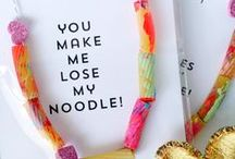 "Valentine's Day Ideas / Nothing says ""I love you"" for Valentine's Day like a pasta craft!"