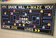 Bulletin Boards | Classroom Doors / Share pictures from the classroom of your themed bulletin boards.  Find ideas to showcase students' work and optimize your boards for back to school.  If you would like to pin to this board, please contact me via my blog.  Apologies - I have had to remove my email address due to spam.