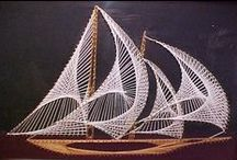 Yacht Gifts :: String art / Стринг арт - это такой вид творчества, когда из гвоздей и ниток создаются картины. / String Art - is a kind of creativity when you use nails and thread to create a picture.