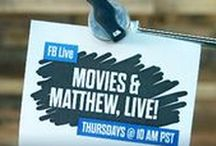 Movies & Matthew, LIVE! / What happens when Matthew Hoffman goes LIVE on Facebook to talk about all things movies? Just about anything! Watch LIVE every Thursday @ 10am on Regal's Facebook Page.