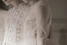 Ethereal Clothing... / You walk into the Valentino fashion show. Dainty lace and silky translucent fabrics radiate white light. The ambience is soft and serene...