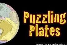 Puzzling Plates app by Tasa Graphic Arts, Inc. / Puzzling Plates is an interactive, educational iPad game that allows you to explore the large, tectonic plates that make up the surface of Earth. Illustrated by Dennis Tasa. Earth science geology earthquake, volcano, and plate tectonic boundary app available for the iPad and Android.