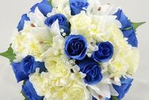 Blue Wedding Theme / Blue colour themed wedding flowers by Petals Polly. www.petalspollyflowers.co.uk