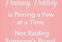 Pinterest / Pinning Etiquette - Manners - Sharing NOT Raiding