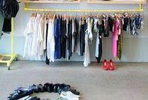 Arara Closet / http://www.alanasantosblogger.com/ Inspiração para atelier de costura Sewing room
