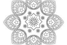 ✐☸ Mandalas~Rangoli~Islamic Patterns / ...adult colouring...designs...patterns...