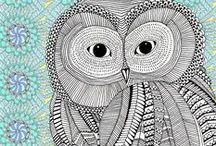 ✐Ö Adult Colouring~Owls~Birds ~Zentangles Ö✐ / ...gorgeous bird life to colour...