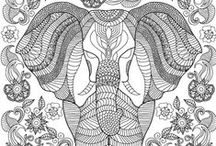 ✐Adult Colouring~Elephants~Zentangles / ...beautiful elephants to colour...