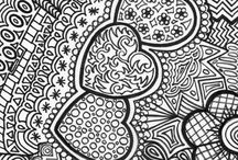 ✐♥Adult Colouring~Hearts~Love ~Zentangles♥✐ / ...colouring pages for adults...