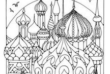 ✐Adult Colouring~Buildings~Houses ~ Cityscapes~Landmarks / ...adult colouring pages...