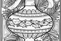 ✐Adult Colouring~Christmas~Easter ~ Zentangles / ...adult colouring pages...