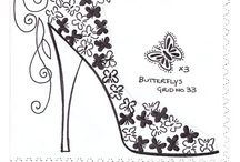 ✐Adult Colouring~Shoes~Feets~Hands~ Zentangles✐ / ...colouring pages for adults...