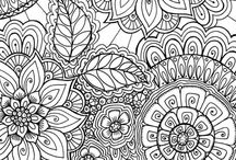 ✐❀Adult Colouring~Flowers❀✐ / ...adult colouring pages...