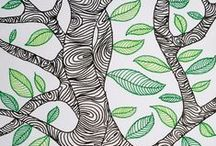 ✐♣Adult Colouring~Trees~Leaves ~ Landscapes ♣✐ / ...adult colouring pages...