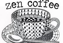 ✐☕Adult Colouring~Coffee~Tea~Cakes ☕✐ / I love coffee and cake!...adult colouring pages...zentangles...