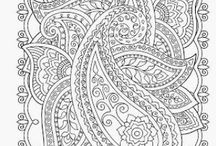 ✐Adult Colouring~Paisley Designs ✐ / ...adult colouring pages...