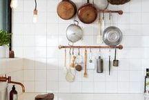 Stunning Bright Kitchens / Natural light kitchens, cooking, kitchen design, home cooking, white kitchens.
