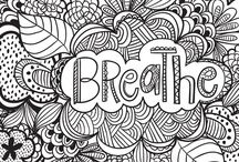 ✐Words Colouring Pages for Adults✐ / ...words...quotes...inspiration...colouring pages...