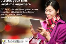 TD Sync HIPAA Compliant Sharing Solution / TD Sync is customized for every business need, which means you'll have an affordable backup solution that fits your needs and protects your work.  ► http://sync.technicaldr.com