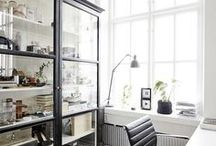 Home | Office / If you're working freelance, web-based, or have a home office, here is some inspiration for organizing and decorating (small) semi-personal office space.