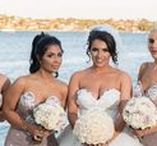 Portia and Scarlett Bridal Parties! / Bridesmaids dresses, bridal party inspo, wedding party, wedding day, bridesmaid gowns