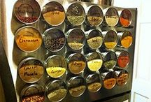 """Spice Cabinet Makeover / Don't know what to do with all those spice jars scattered around your so-called """"Spice Cabinet?"""" Hopefully the images on this board will help inspire you to give your kitchen the #DIY #SpiceCabinetMakeover it truly deserves!"""