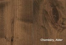 BELLEVILLE PLANK Collection - Antique Impressions / Inspired by the chalets and mountain villas of the French Alps, the Belleville Plank Collection is an expression of centuries-old charm. Our skilled artisans hand select superior quality boards of rustic red alder and transform them into uniquely textured masterpieces.