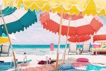 L'été c'est fun! / tendances de l'été, accessoires de plage et de piscine, lunettes de soleil, vacances...