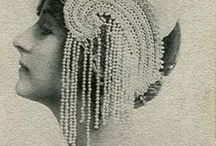 Headpieces,turbans and aigrettes