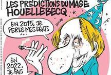 ❤️DESSINATEURS CÉLÈBRES❤️ / Quelques couvertures célèbres de Charlie Hebdo et autres