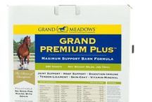 Grand Premium Plus / Welcome to the most comprehensive equine supplement on the planet. As the supplement market has become more and more saturated, we continue to hear from consumers how overwhelmed they are with the bewildering array of choices. Grand Premium Plus was developed to provide a solution to this dynamic and to simplify your supplement program by offering complete nutritional support in one product.