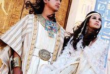 """Kostüme - Ägyptisch - Larp / """"Tut"""" war die Inspiration diese Pinnwand zu erstellen. Exotisch und gleichzeitig irgendwie vertraut sind die Gewandungen im ägyptischen Stil."""