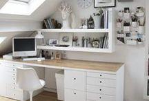 Einrichtung - Arbeitszimmer / Einer meiner größten Träume ist ein eigenes Nähzimmer, das ich ganz nach meinen Wünschen einrichten und gestalten kann. Solange bis das möglich ist träume ich davon und sammle meine Ideen hier!