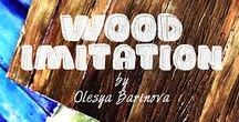 "Project ""Wood Imitation by Olesya Barinova"" / Работы учеников курса"