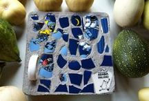 My mosaic and concrete works